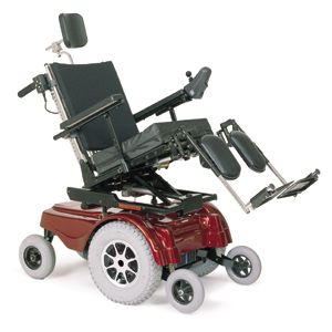 """TDX SP Electric Wheelchair w/Full Tilt, 14"""" Tires, Mobility Scooter"""