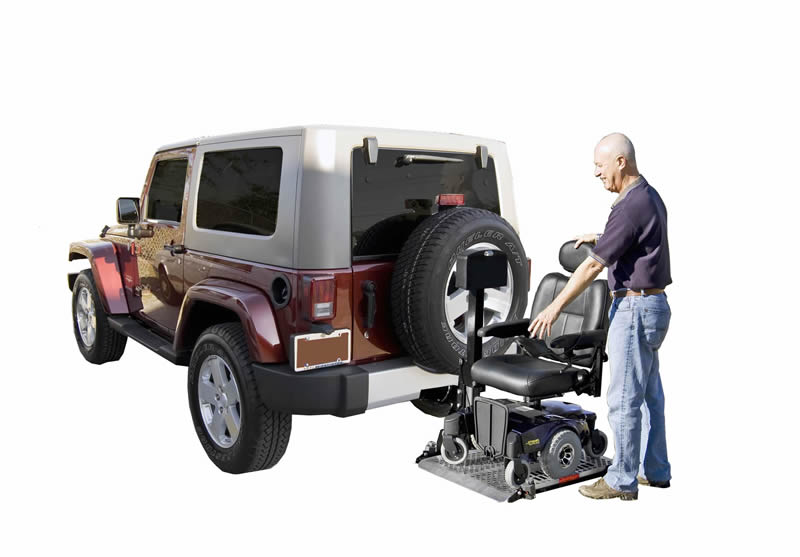 Wheelchair Lift For Car >> Universal Power Chair Lift Aluminum Platform
