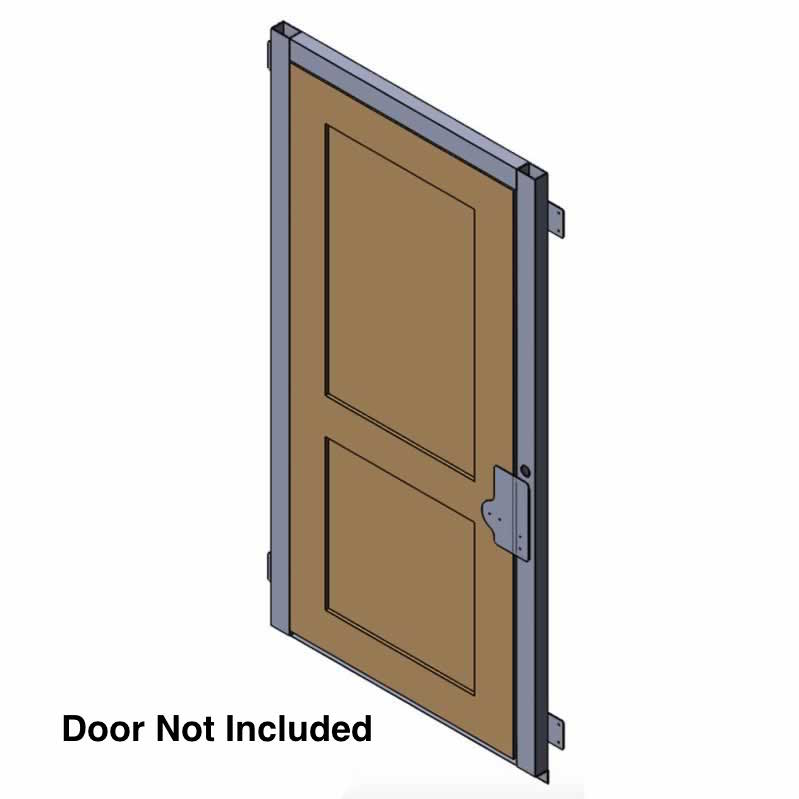 AmeriGlide Flush Mount Aluminum Door Jamb with Interlock
